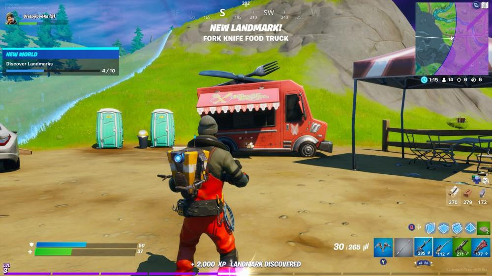 Fortnite Chapter 2 food truck