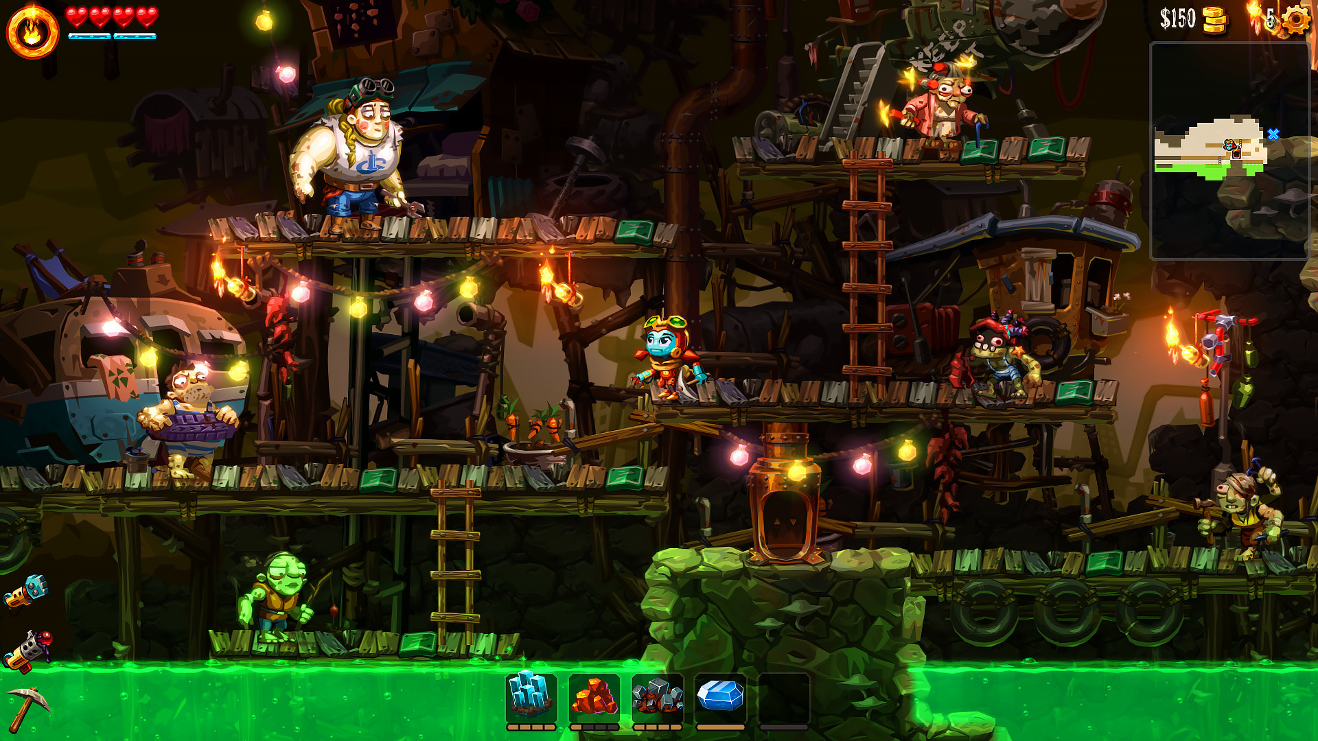 Steamworld Dig 2 gameplay