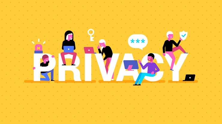 Fun people and word Privacy picture