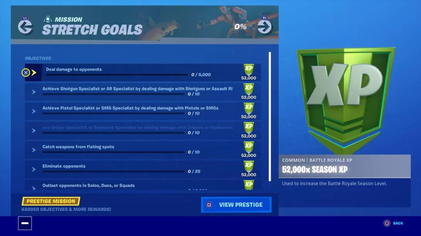 fortnite 2 deal damage with weapons goal